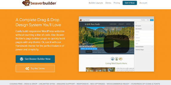Beaver Builder website screenshot