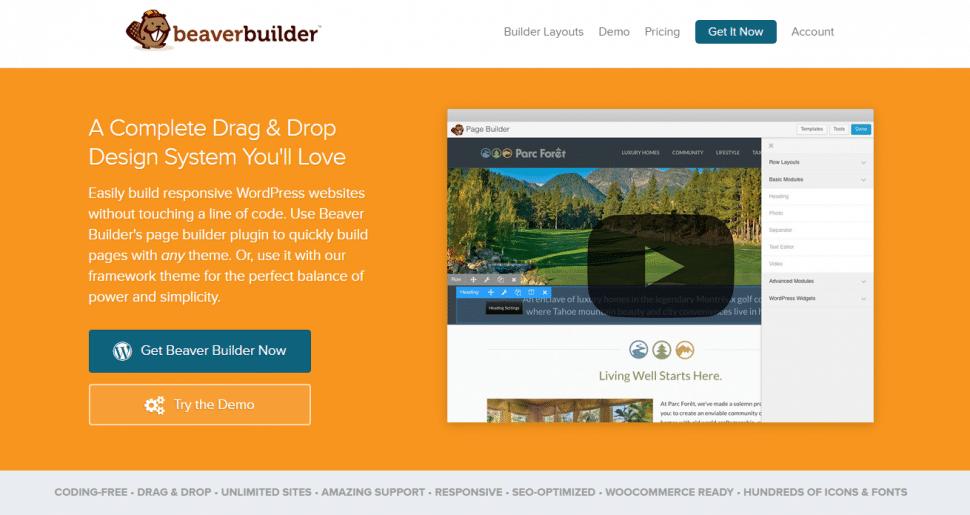 Beaver Builder website screenshot