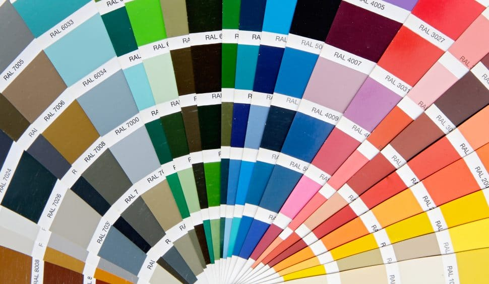 Choice of paint chips