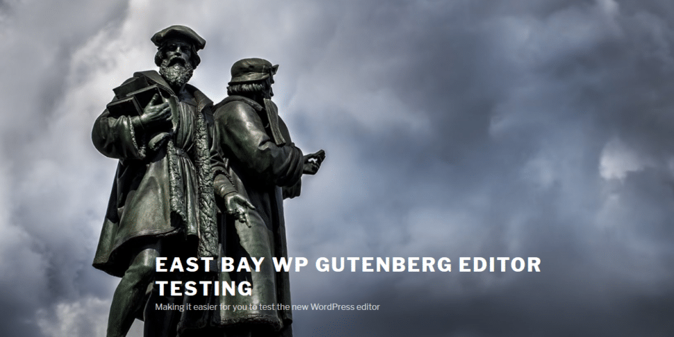 Screenshot of the Gutenberg Test Site Home Page