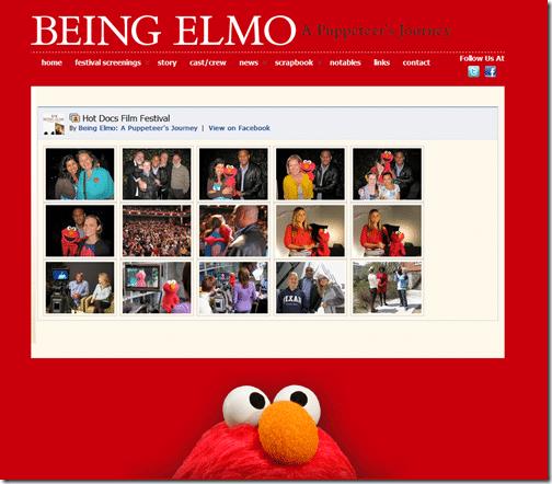 Embed Facebook on Being Elmo