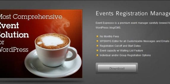 Event Espresso website screenshot