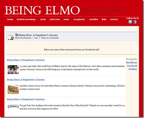 Facebook Grabber » Being Elmo