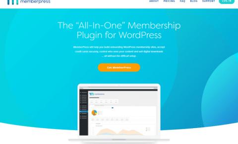 screenshot of the MemberPress membership plugin home page
