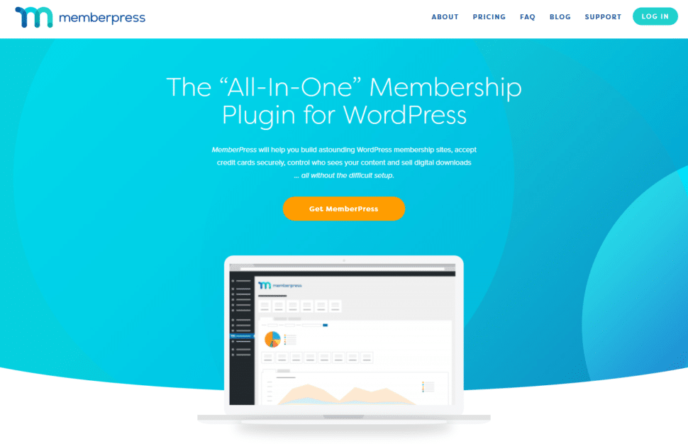 screenshot of the MemberPress membership plugin home page