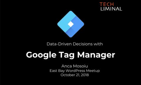 Cover slide for Google Tag Manager presentation