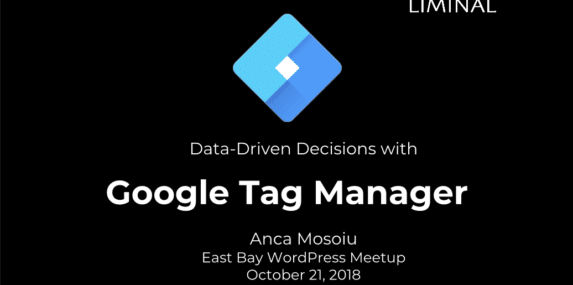 Cover slide for Google Tag Manager presentation