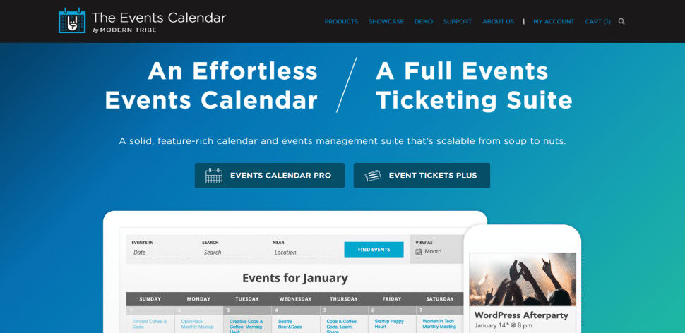 Modern Tribe's Events Calendar plugins