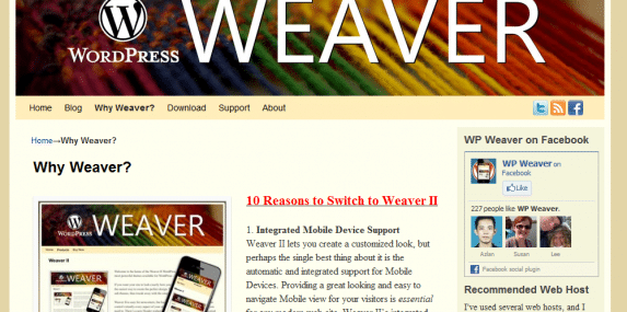 Weaver II Theme: why switch?