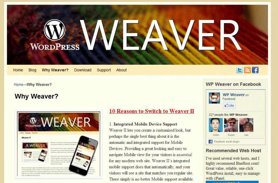 Weaver II Theme: why switch?