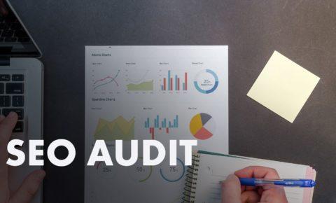 SEO Audit (photo of analytics dashboard graphs)