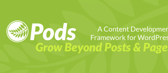 Pods Framework banner for WordPress plugin repo