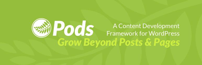 Pods Framework banner for WordPress plugin repo