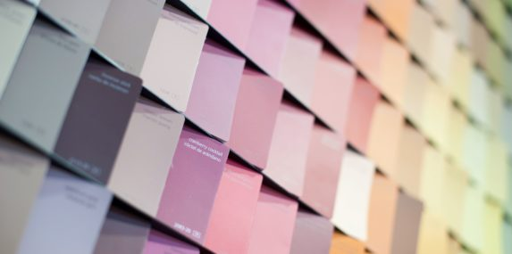 Display of paint colors