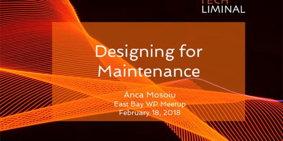 Designing for Maintenance starting slide