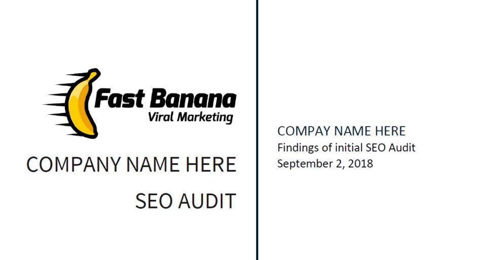 SEO Audit template