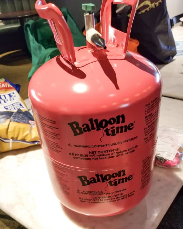 Helium tank for filling the #wp15 balloons