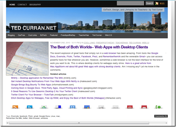 TedCurran.net screenshot
