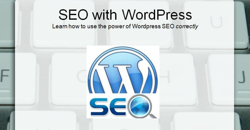 Title slide from SEO with WordPress presentation