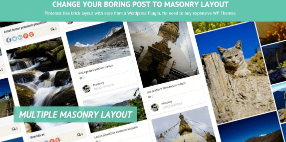 post masonry layout plugin screen capture