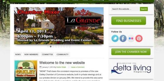 Oakley Chamber of Commerce WordPress Site