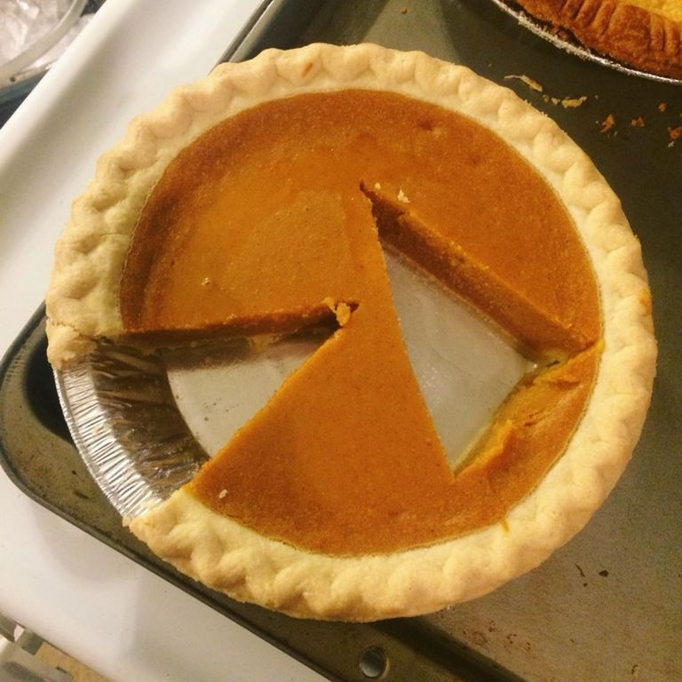 pie with slice cut from the middle