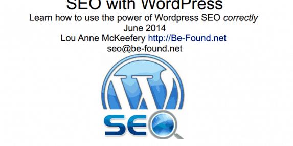 June 2014 Meetup Slides: WordPress SEO with Lou Anne McKeefery