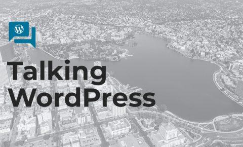 Talking WordPress: cover slide for speaker training