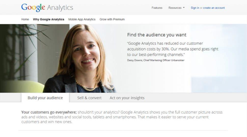screenshot: why google analytics